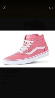 Tennis Vans, Tipo Botas Color Rosa