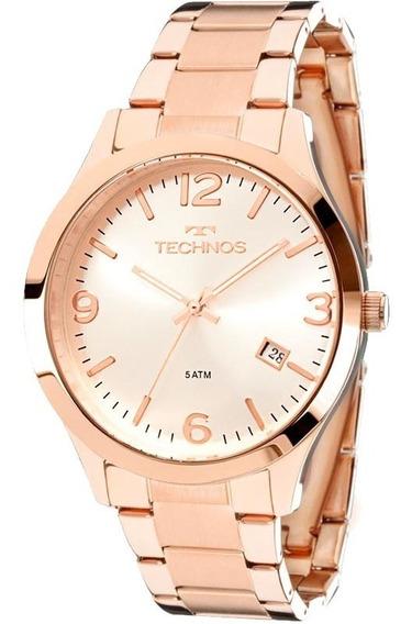 Relógio Technos Rosê Médio Calendário 2315acj/4k Original