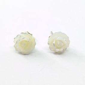 Brinco Madre Perola Rosa Pequena Em Prata - Id 4384
