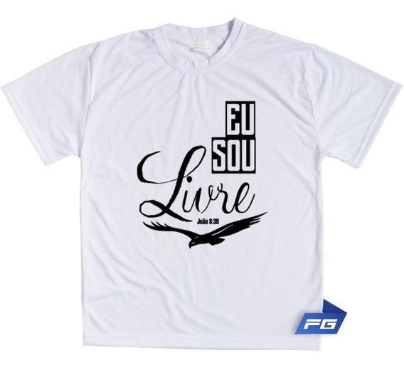 Camiseta Eu Sou Livre João 8 36 Gospel Jesus Cristo Águia
