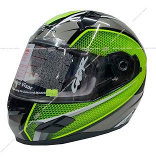Casco Gdr Cerrado Ff 856 C/gafas Verde Neón Rider One