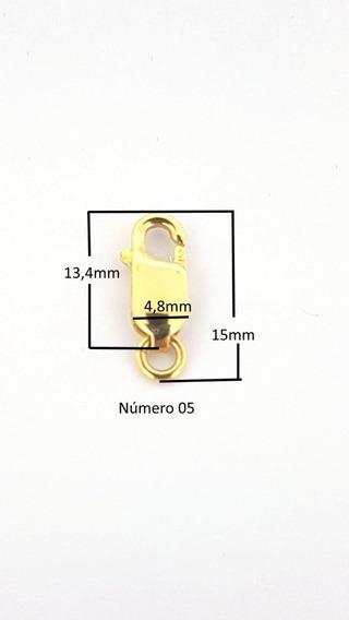 Fecho Ouro 18k Mosquetão 15mm