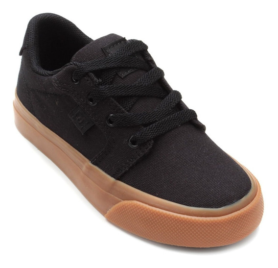 Tênis Infantil Dc Shoes Anvil Tx La Masculino - Preto