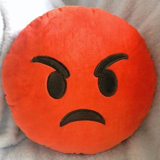Cojin Suave Emoticones Emoji Sofá Cama Carita Enojada