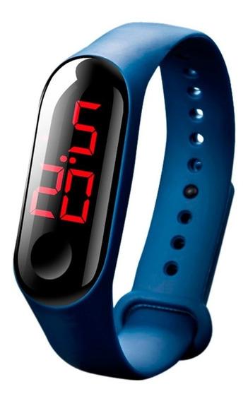 Relógio Led Watch Pulseira Azul