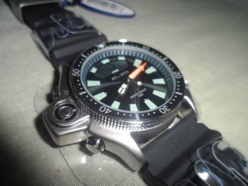 Relogio Atlantis G3220 Serie Prata Borracha =citzen Aqualand