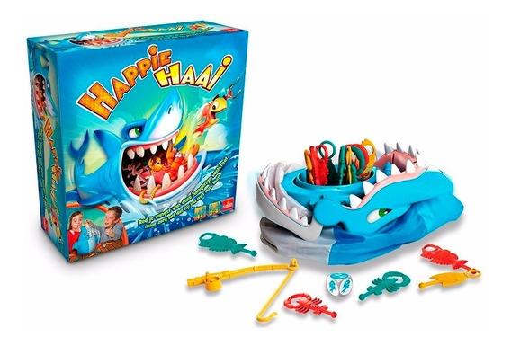 Jogo Tubarão Bocão Com 12 Peixes + Vara De Pesca Multikids
