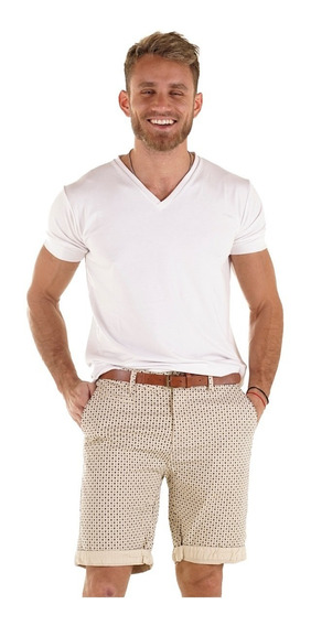 Bermudas Vestir Hombre Gabardina Elastiazada Importadas