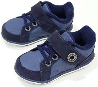 Sapatênis Infantil Klin Cravinho Velcro Azul 18 Ao 21