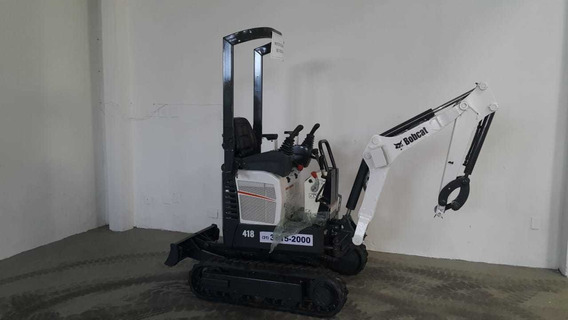 Mini Escavadeira Bobcat 418 Ano 2015 Com 744h, Revisada.