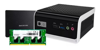 Computadora Mini Pc Cpu Celeron J4105 Gigabyte Brix Ddr4 Ram 8gb Ssd 240gb Hdmi Usb Red Wi-fi