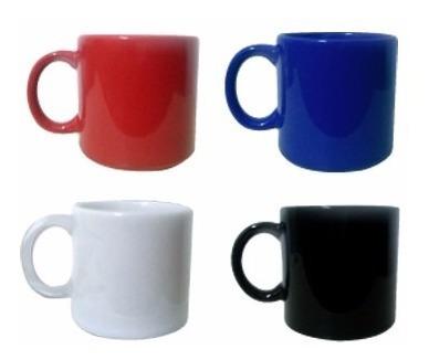 Jarro X12 Mug Ceramica Blanco Rojo Azul Negro Taza Desayuno