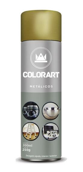 Tinta Spray Colorart Metálico - Metal Madeira Plástico