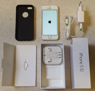 iPhone 5s 64gb Branco Desbloqueado+ Fones E Carregador Novos
