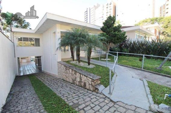 Casa Comercial À Venda, Champagnat, Curitiba. - Ca0035