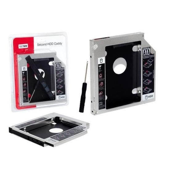 Kit C/5 Adaptador Dvd Hd Ou Ssd Notebook Caddy 12.7mm