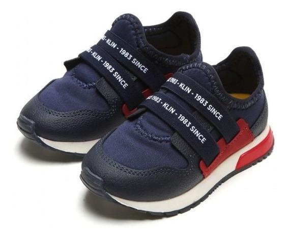 Tênis Klin Baby Walk Meninos 216038000 - Marinho/vermelho