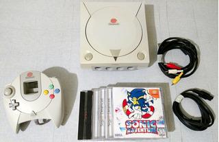 Sega Dreamcast + Controle Original + 5 Jogos Paralelos