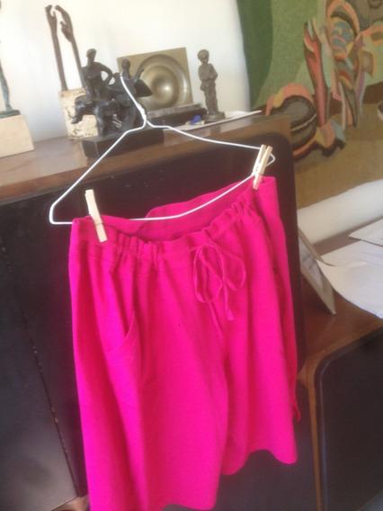 Pollera-pantalón- Bermudas X X L; Color: Fucsia-rosa Chicle