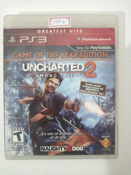 Sony Ps3 Uncharted 2 Game Of The Year Original Lote179