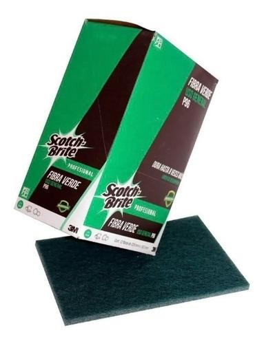 Imagen 1 de 4 de Fibra Verde Caja 12 Piezas 3m Scotch Brite P-96