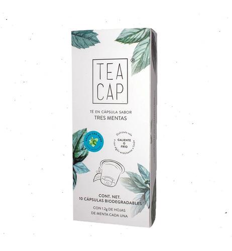 Imagen 1 de 4 de Tea Cap Té Infusión  De Tres Mentas 10 Cápsulas