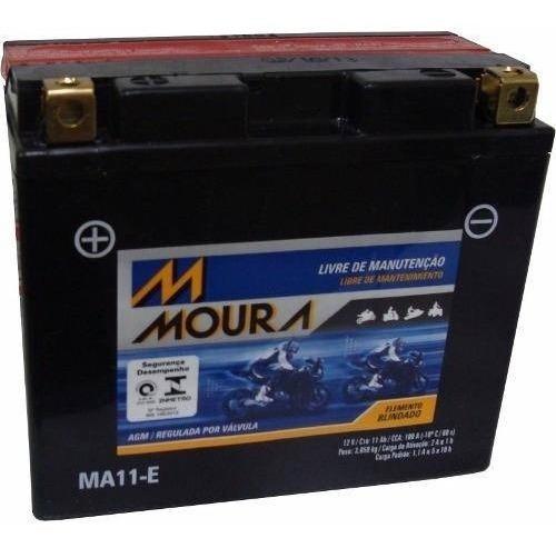 Bateria Moto Moura Ma11-e Ducati 796 Hypermotard Yt12-b
