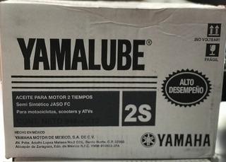 Caja 12 Litros Aceite Yamalube 2t Semi-sintetico