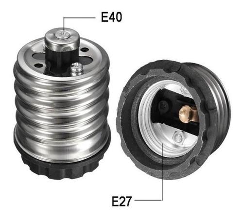 Kit 5 Adaptador Redutor Bocal Soquete E40 Para E27