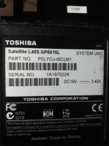 Repuestos Para Laptop Toshiba Satellite L455-sp5015l Garanti