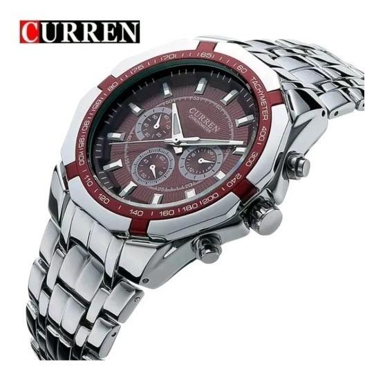 Relógio Masculino Analógico Curren Luxo Original Importado