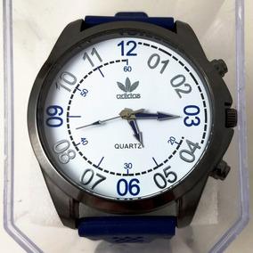 Relógio Masculino adidas Pulseira De Silicone Azul