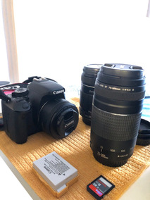 Câmera Canon T3i (600d) + 3 Lentes + Sd Card + Case