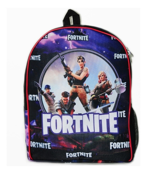 Mochila Clasica Escolar Fortnite Toda Estampada, Unica