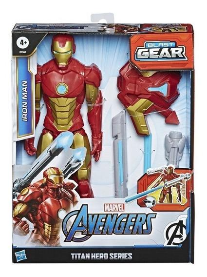 Muñeco Iron Man Avengers Blast Gear 30cm Hasbro E7380 Full