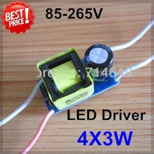 Reator Fonte Driver Para Lâmpadas De Led 4x3w 12w Ac 85~265v