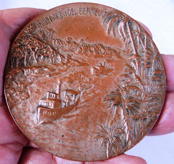 Monijor62-antigua Medalla Navegacion Rio Bermejo De 1911