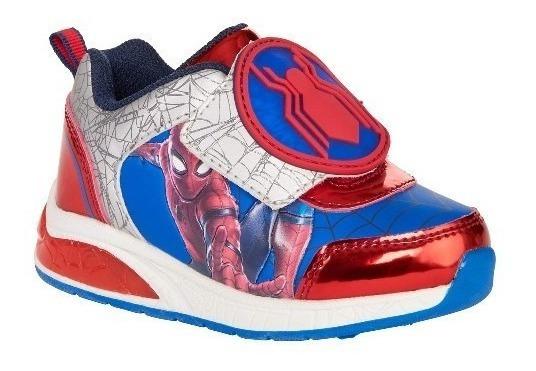 Zapatos Deportivos Spiderman Niños Original Con Luces