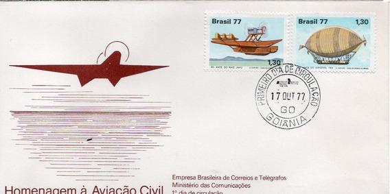 Fdc 1977 - Homenagem À Aviação Civil - Selos #135