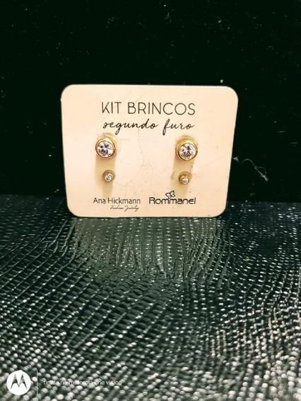 Kit Brincos Segundo Furo Rommanel 18 K