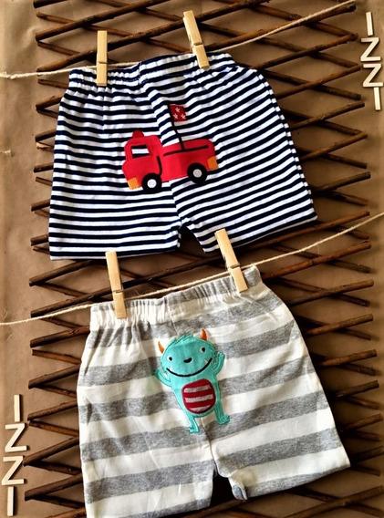 Paquete X 2 Pantalón Azul Rayas Blancas Y Blanco Rayas Gris