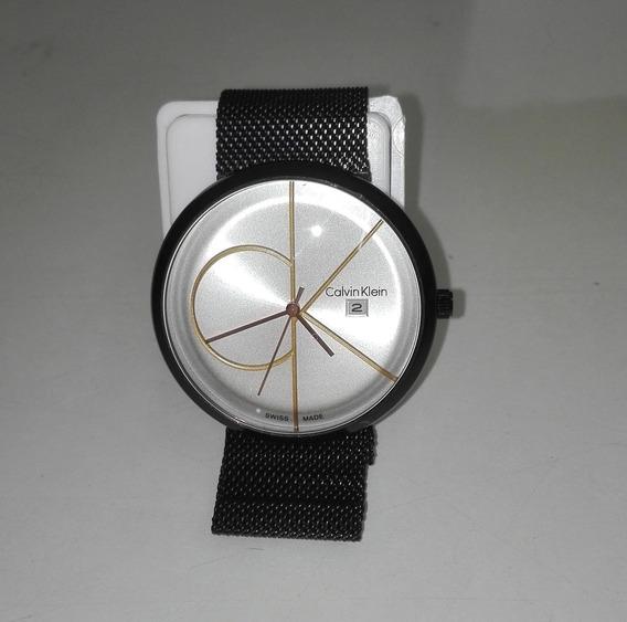 Reloj De Pulsera Ck Ajustable De Iman Negro De Hombre Rckn