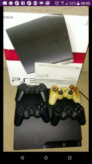 Playstation 3 Ps3 + 04 Controles + Diversos Jogos R$2500,00!