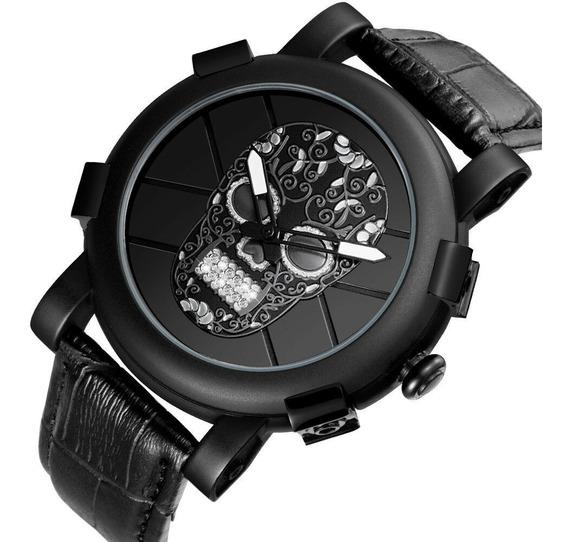 Relógio Skone 3d Crânio Postagem Imediata.