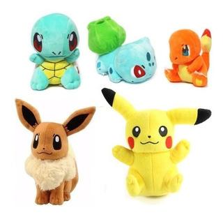 Peluche Pokemon Personajes Principales Pikachu 20 Cm