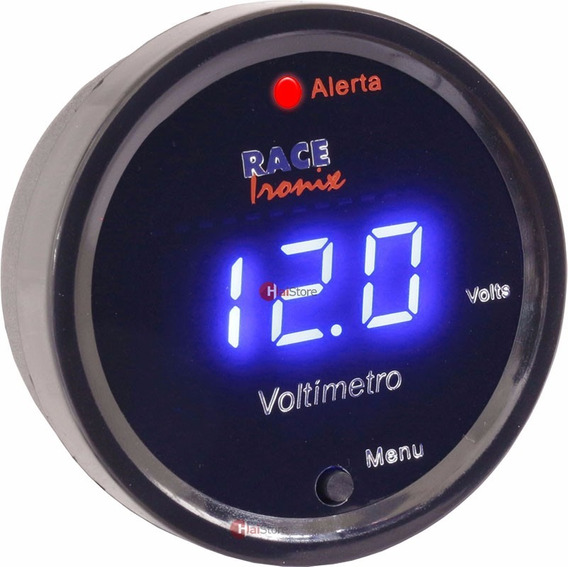 Voltimetro Digital Racetronix Led 52mm Bateria Carga Carro