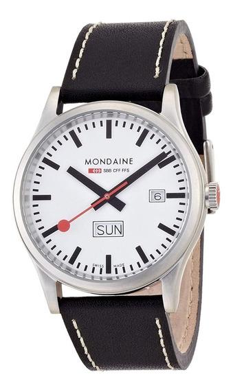 Reloj Mondaine Day-date Helvatica A667.30308.16s Nuevo Orig