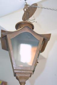 Luminária Externa De Teto Anos 60