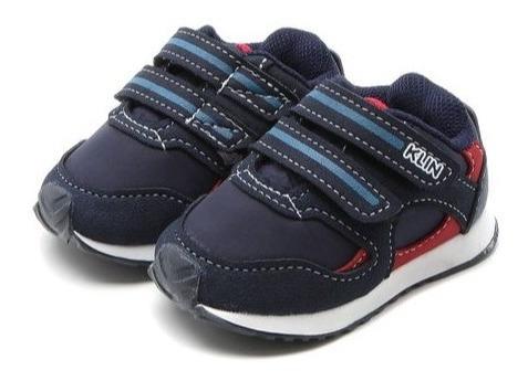 Tênis Infantil Klin Menino Mini Walk Original Velcro