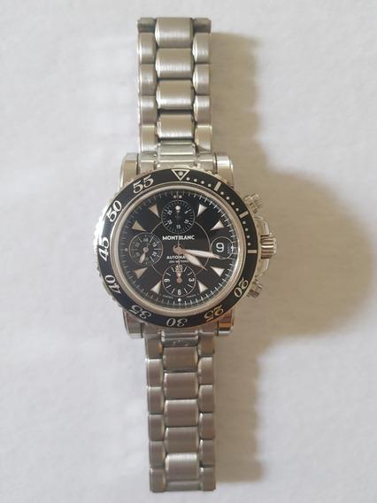 Reloj Mont Blanc Meisterstuck Xl Sport Acero Para Caballero